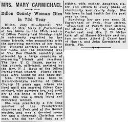 Mary Irene <i>Carmichael</i> Carmichael