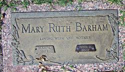Mary Ruth <i>Adams</i> Barham