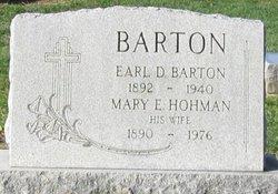 Mary E <i>Hohman</i> Barton