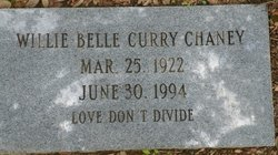 Willie Belle <i>Curry</i> Chaney