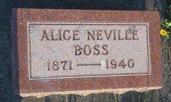 Alice <i>Neville</i> Boss