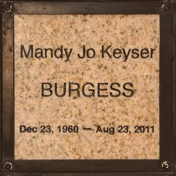 Mandy Jo <i>Keyser</i> Burgess