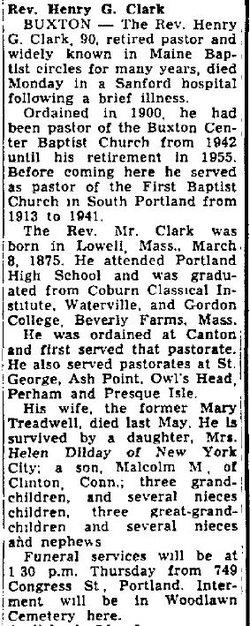 Rev Henry Graham Clark