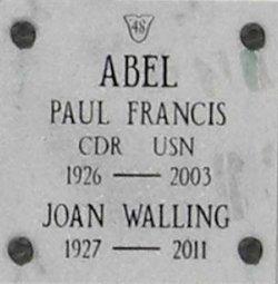 CDR Paul Francis Abel