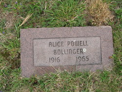 Alice <i>Powell</i> Bollinger