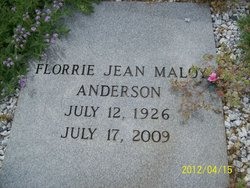 Florrie Jean <i>Maloy</i> Anderson