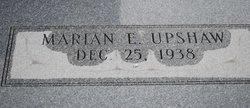 Marian <i>E</i> Upshaw
