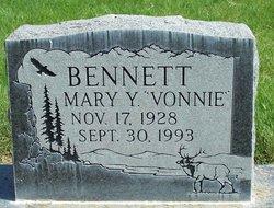 Mary Yvonne Vonnie <i>Clemons</i> Bennett