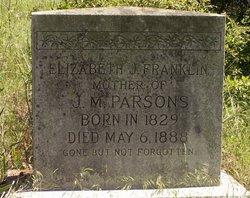 Elizabeth Jane <i>Helms</i> Franklin