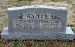 Martha Jane <i>Yates</i> Asher