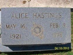 Alice Clark <i>Hastings</i> Haisten