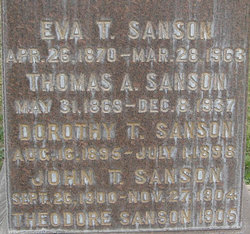 Eva Sophia <i>Tufts</i> Sanson