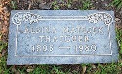 Albina <i>Matejek</i> Thatcher