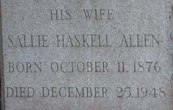 Sallie <i>Haskell</i> Allen