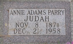 Annie Barbara <i>Adams</i> Judah
