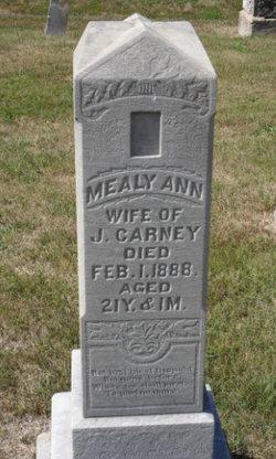 Amelia Ann Mealy <i>Rudisell</i> Carney
