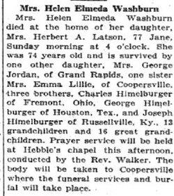 Helen Elmeda <i>Himelberger</i> Washburn