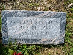 Annalee <i>Dixon</i> Rader