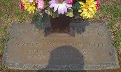 Mattie <i>Rowland</i> Reed