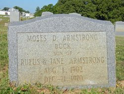 Moses D Buck Armstrong