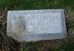 Arietta <i>Toll</i> Baxter