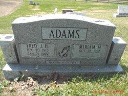 Miriam M <i>Arnold</i> Adams