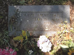 Mary <i>Mathis</i> Davis