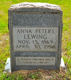 Anna <i>Peters</i> Lewing