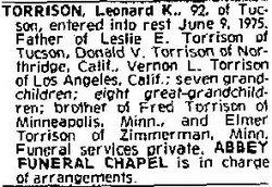 Leonard Kelly Torrison