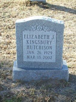 Elizabeth J. <i>Kingsbury</i> Hutchison