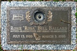 Rosie Bell Rosa <i>Bittle</i> Ballard
