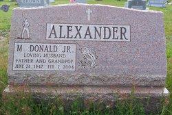 M Donald Alexander, Jr