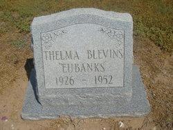 Thelma <i>Eubanks</i> Blevins