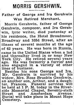 Moishe Morris Gershwin