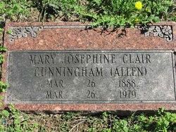 Mary Josephine Clair <i>Cunningham</i> Allen