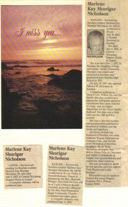 Marlene Kay <i>Shurigar</i> Nicholson