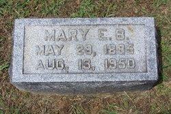 Mary E <i>Corder</i> Buchanon