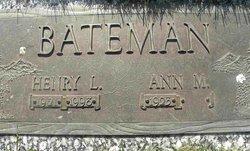 Ann M. <i>Molenhouse</i> Bateman