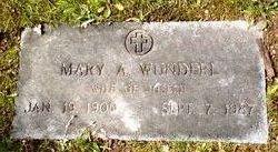 Mary A <i>Braley</i> Wunderl