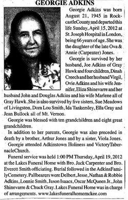 Georgie <i>Jones</i> Adkins