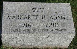Margaret H <i>Talarico</i> Adams Yeager