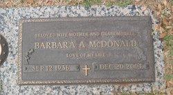 Barbara A <i>Spangler</i> McDonald