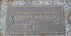 Harold L McDonald