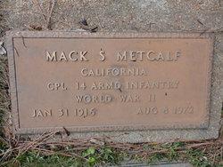 Corp Mack S. Metcalf