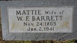 Martha Mattie <i>Kearley</i> Barrett