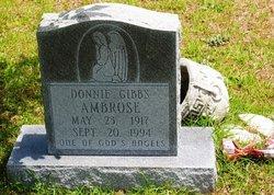 Donnie V <i>Davidson</i> Ambrose