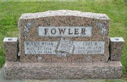 Minnie Willa <i>McGee</i> Fowler
