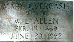 Mary Catherine Minnie <i>Overcash</i> Allen