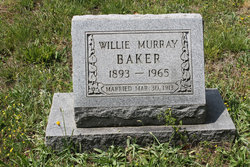Willie Anna <i>Murray</i> Baker