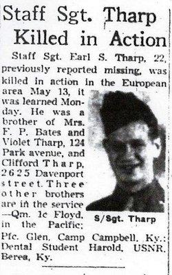 SSgt Earl S Tharp